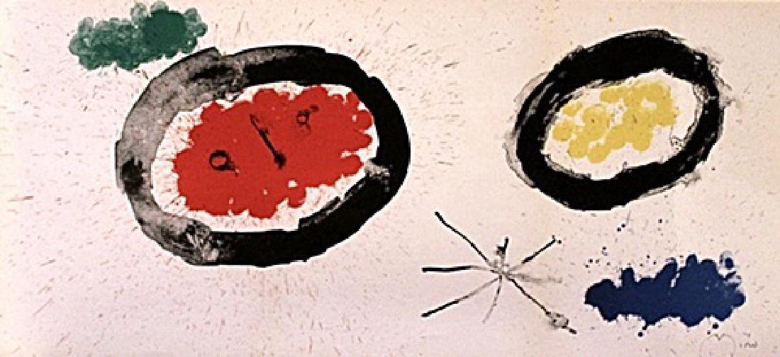 Joan Miro Signed Lithograph 407