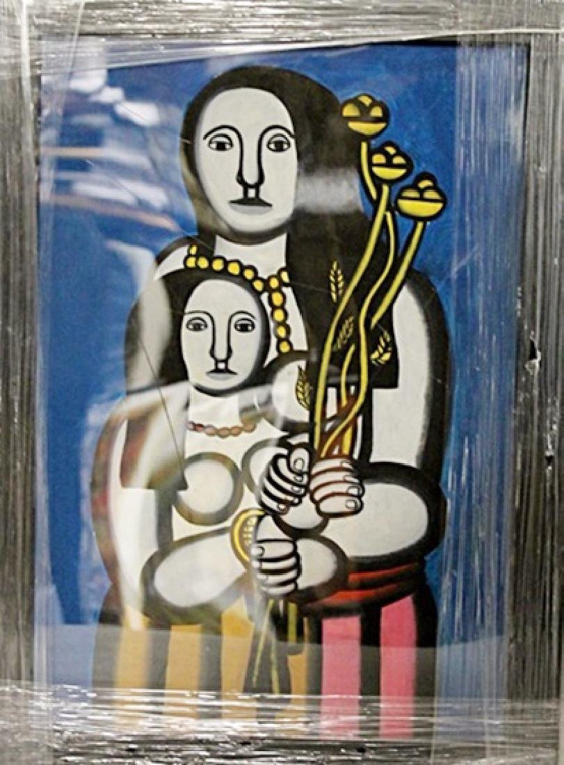 Fernand Leger - Two Womans - Oil on paper