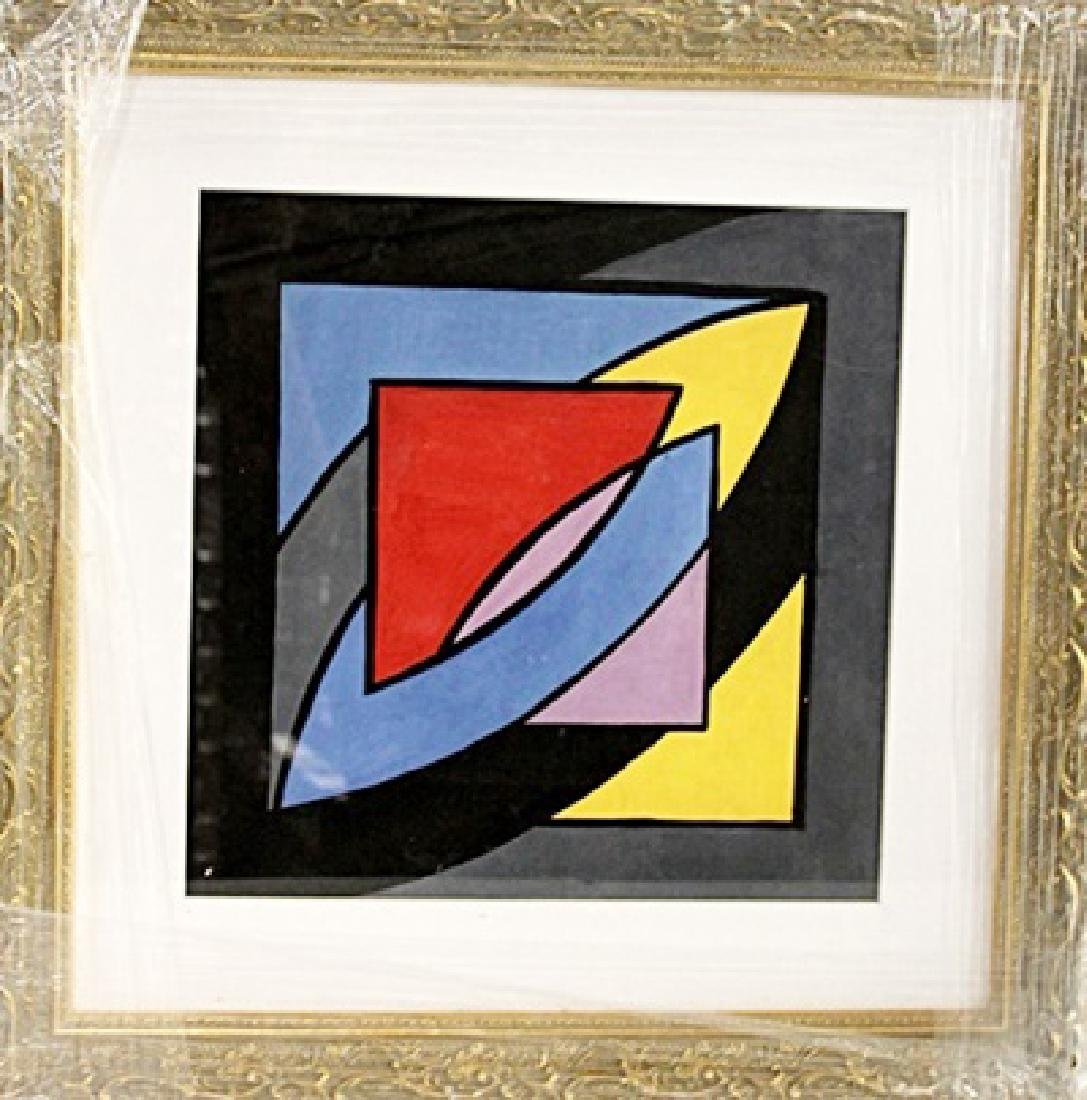 Frank Stella - Composition - Oil on paper