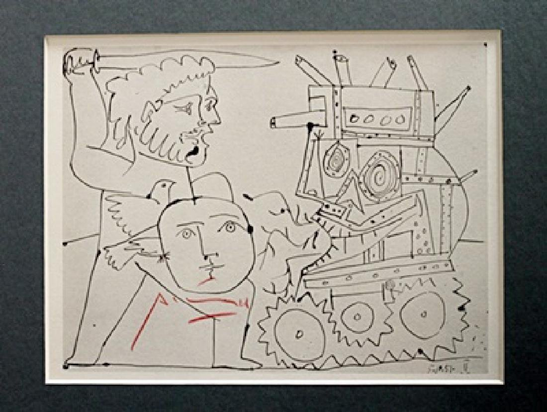 Pablo Picasso Signed Lithograph 56