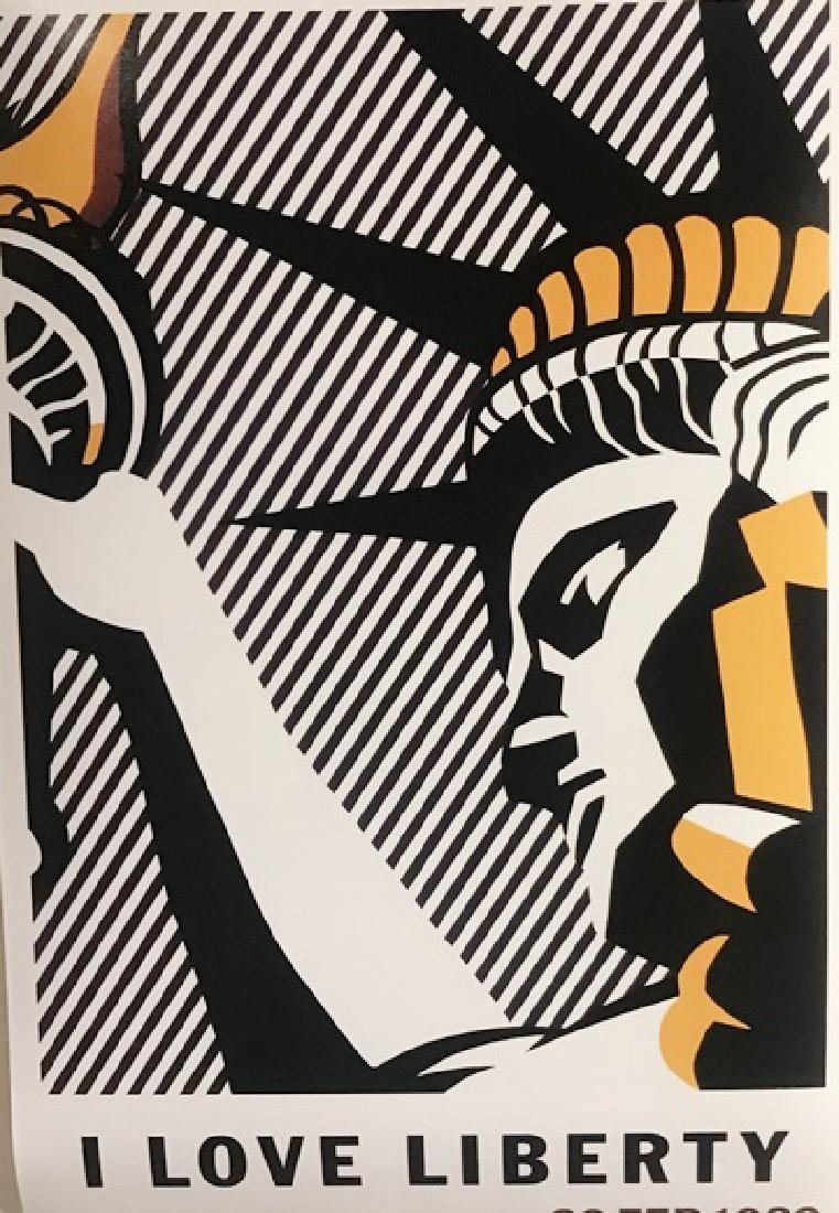 Roy Lichtenstein Lithograph - I Love Liberty