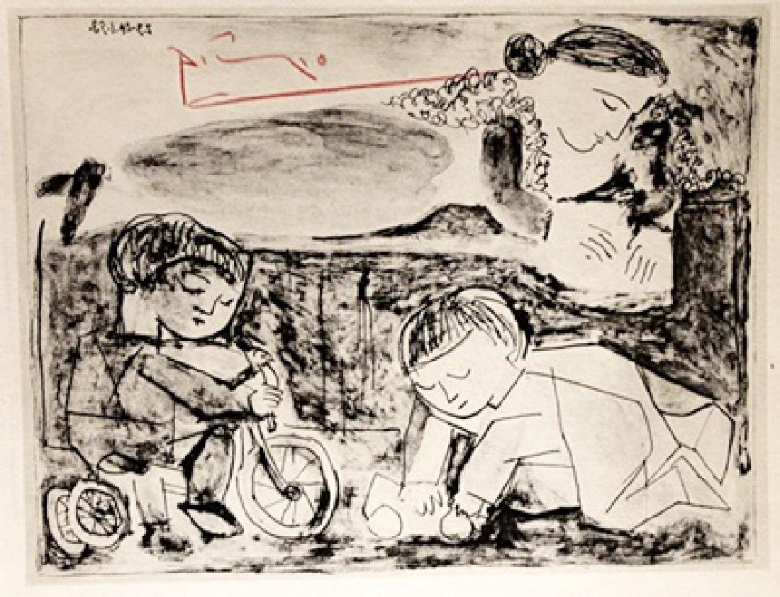 Pablo Picasso Signed Lithograph 244