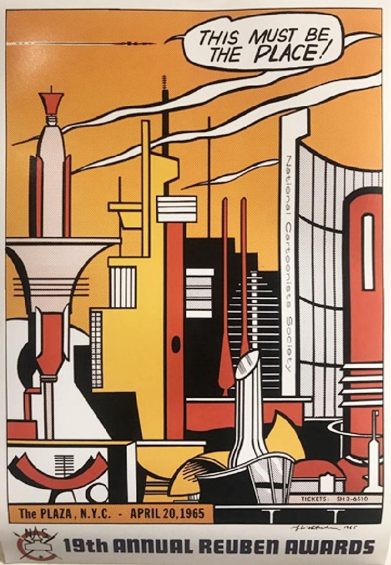Roy Lichtenstein Lithograph - This Must Be The Place