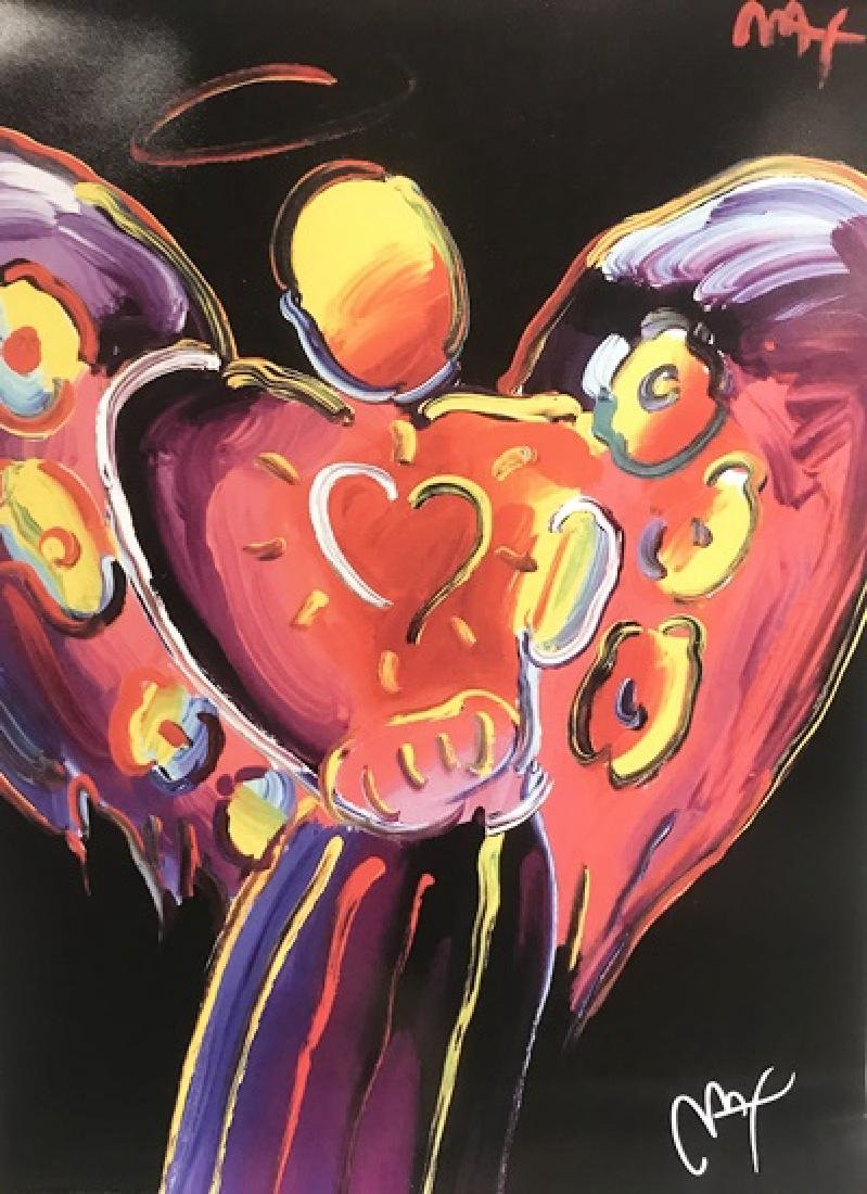 Peter Max Signed Lithograph - Angel