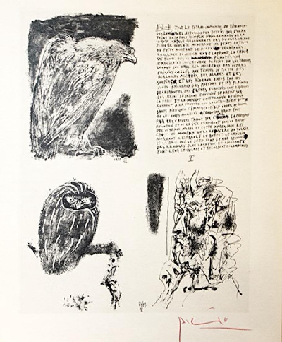 Pablo Picasso Signed Lithograph 164