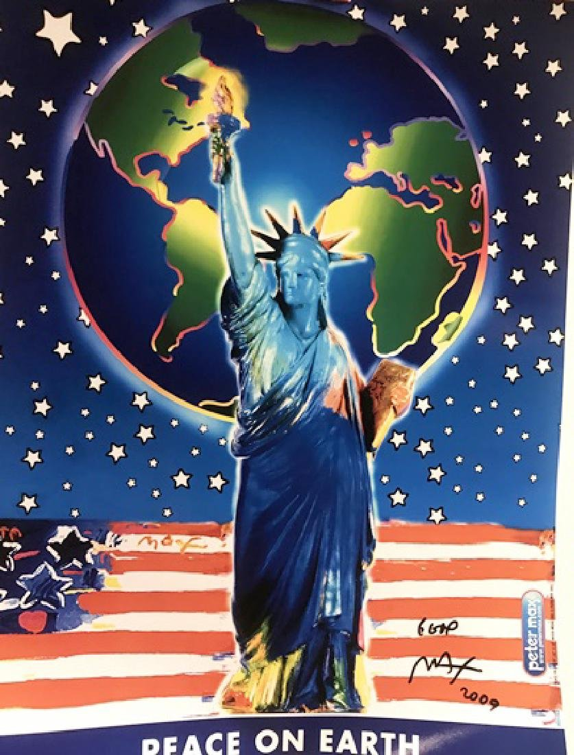 Peter Max Signed Lithograph - Peace On Earth