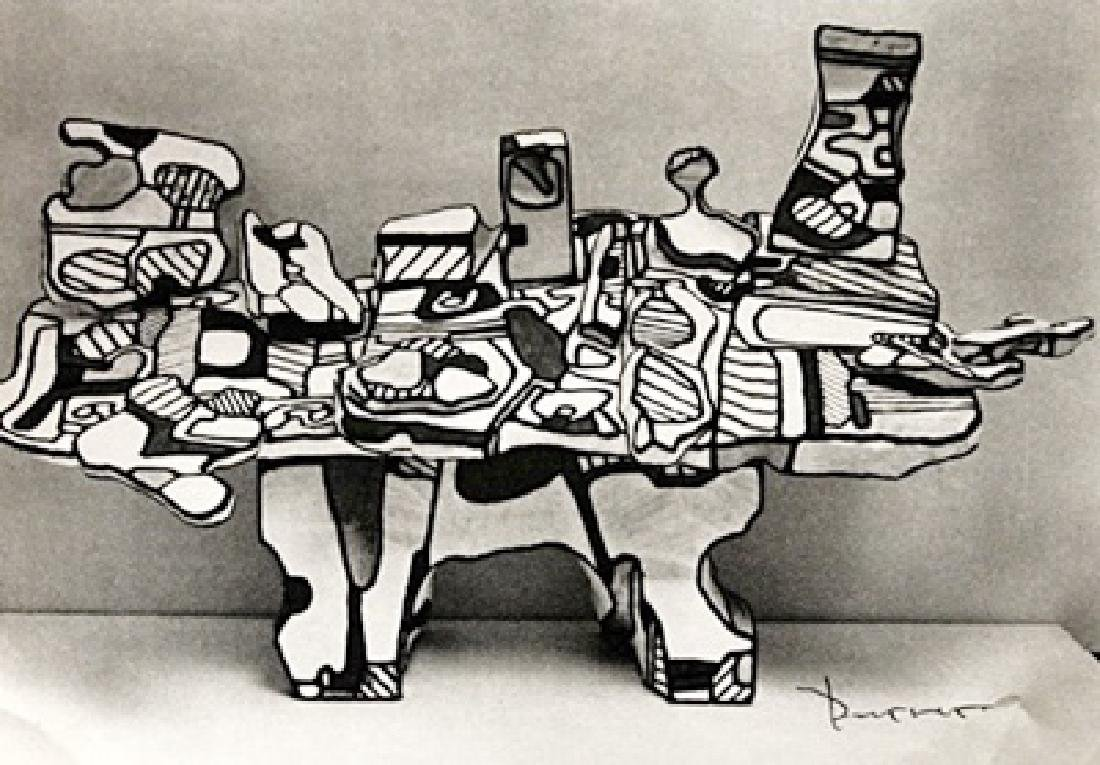 Jean Dubuffet Signed Lithograph 194
