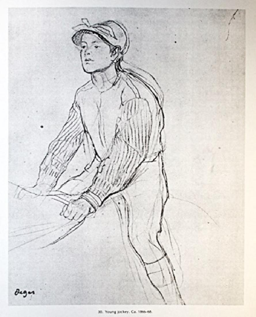 Edgar Degas Lithograph Drawing on Paper