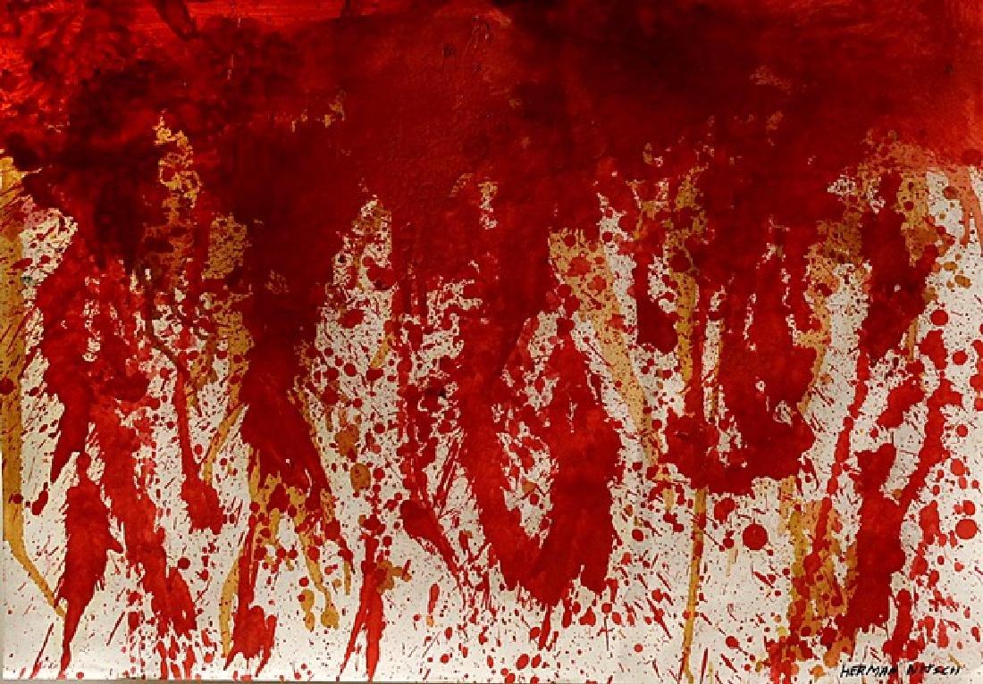 My Blood - Hermann Nitsch - Oil On Paper
