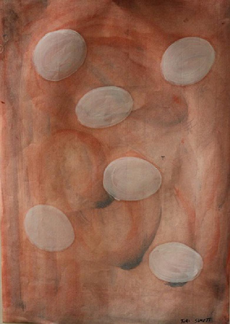 Turi Simeti - Oil On Paper