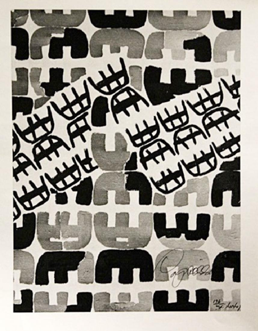Giuseppe Capogrossi Signed Lithograph 207