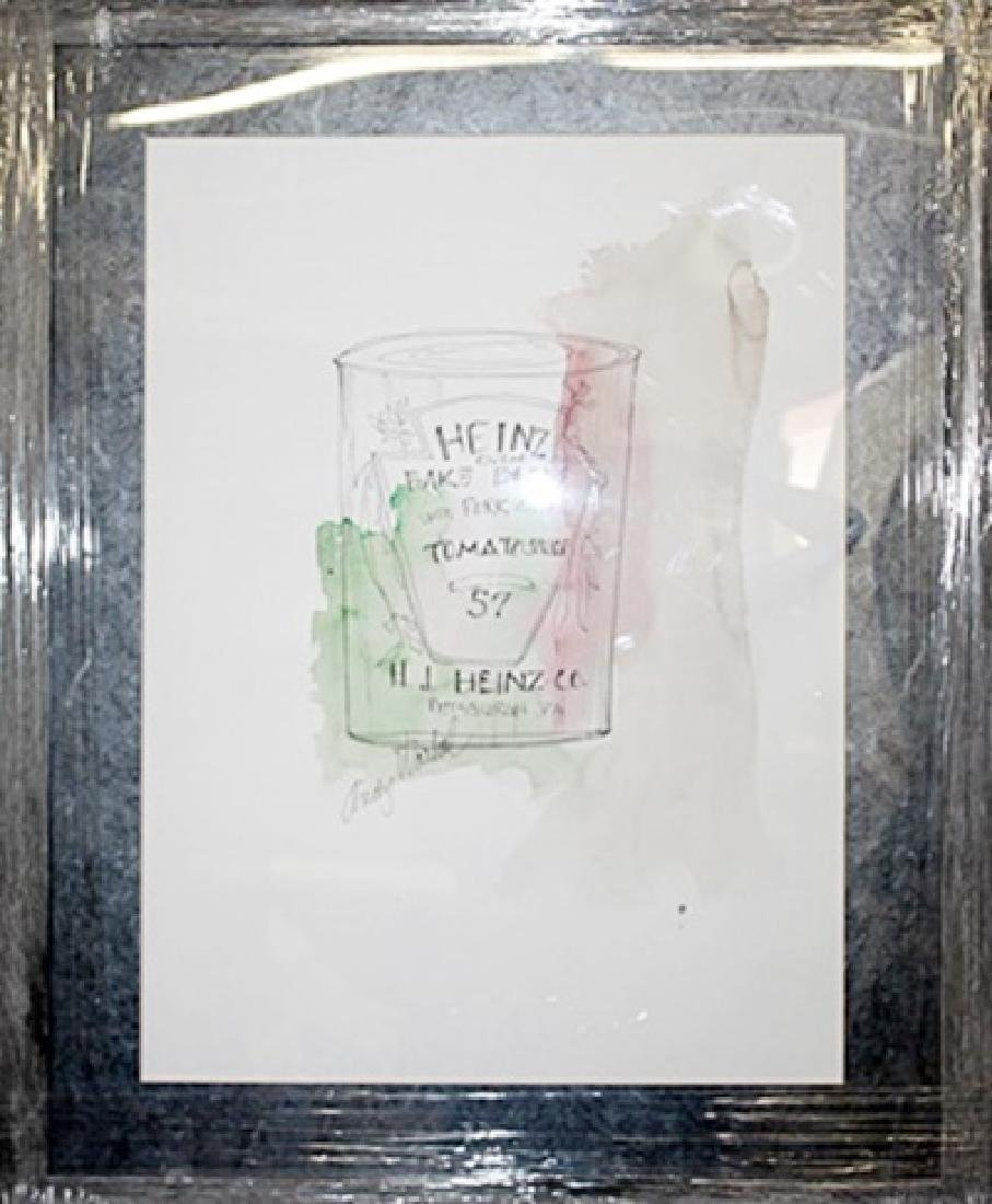 """Heinz Tomato Sauce"" Watercolor Andy Warhol"