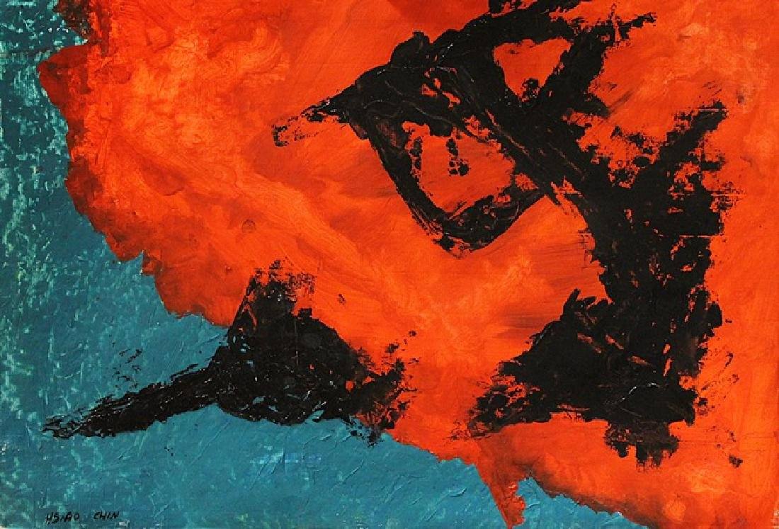 Red Sea - Hsiao Chin - Oil On Paper