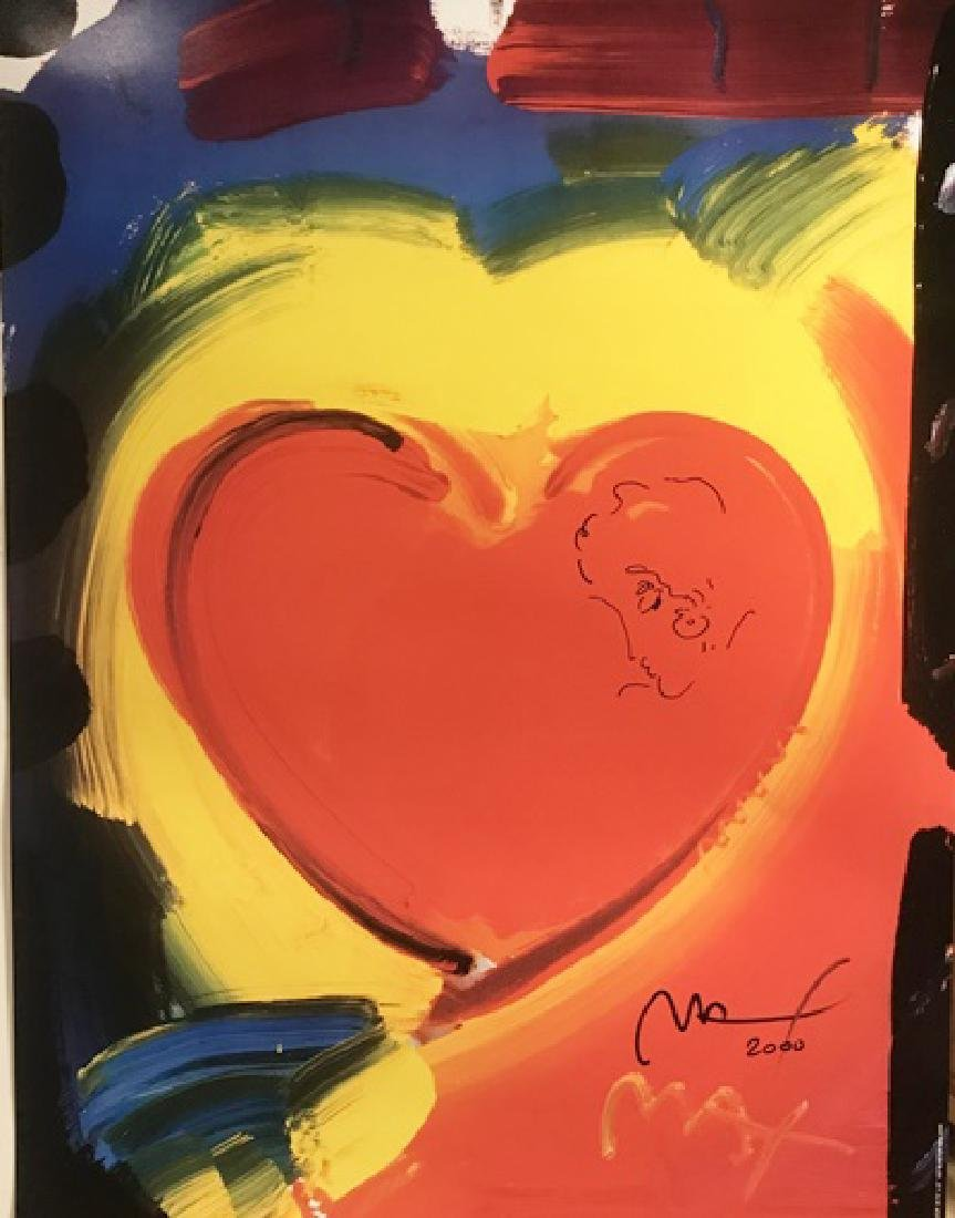 Peter Max Signed Lithograph - Valentine