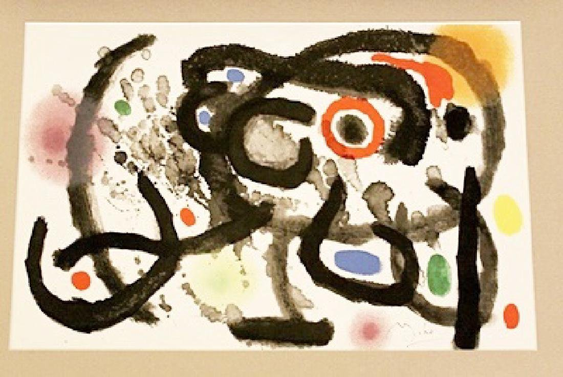Joan Miro Signed Lithograph 402