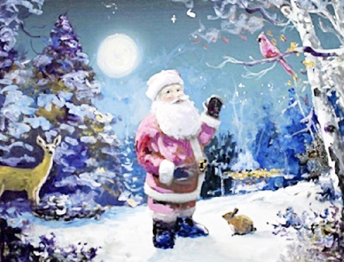 """Christmas Stop"" Original Painting by Michael Schofield"