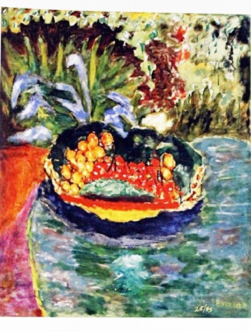 Bonnard - Still Life With Bowl Of Fruit - Lithograph