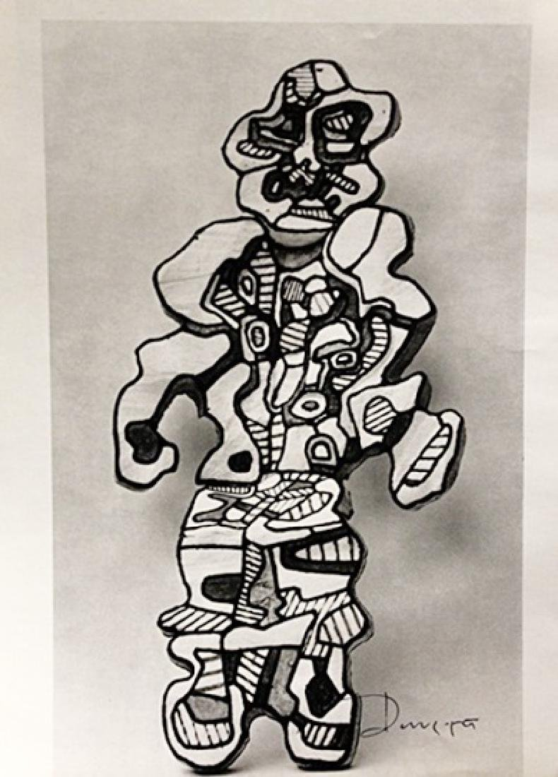 Jean Dubuffet Signed Lithograph 186