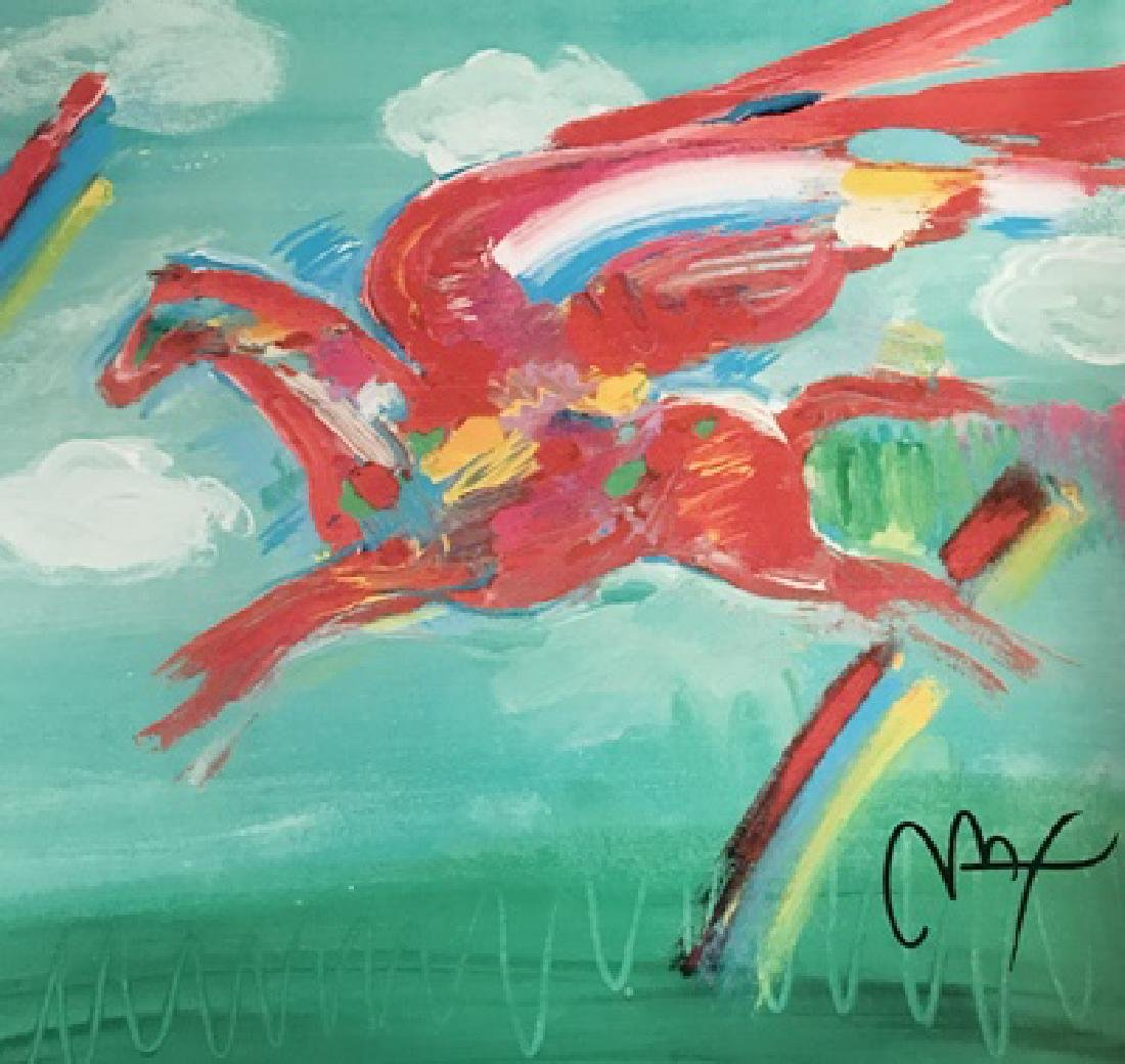Peter Max Signed Lithograph - Bluegrass Pegasus