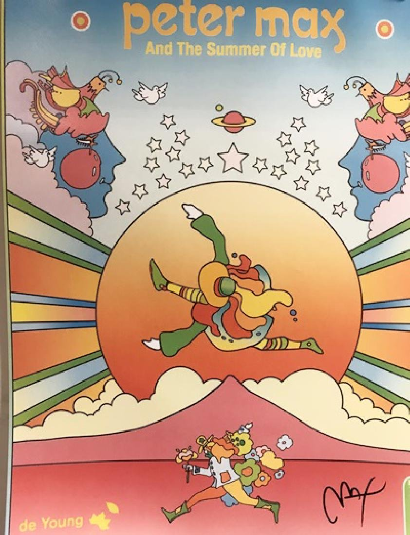 Peter Max Signed Lithograph - Peter Max and the Summer