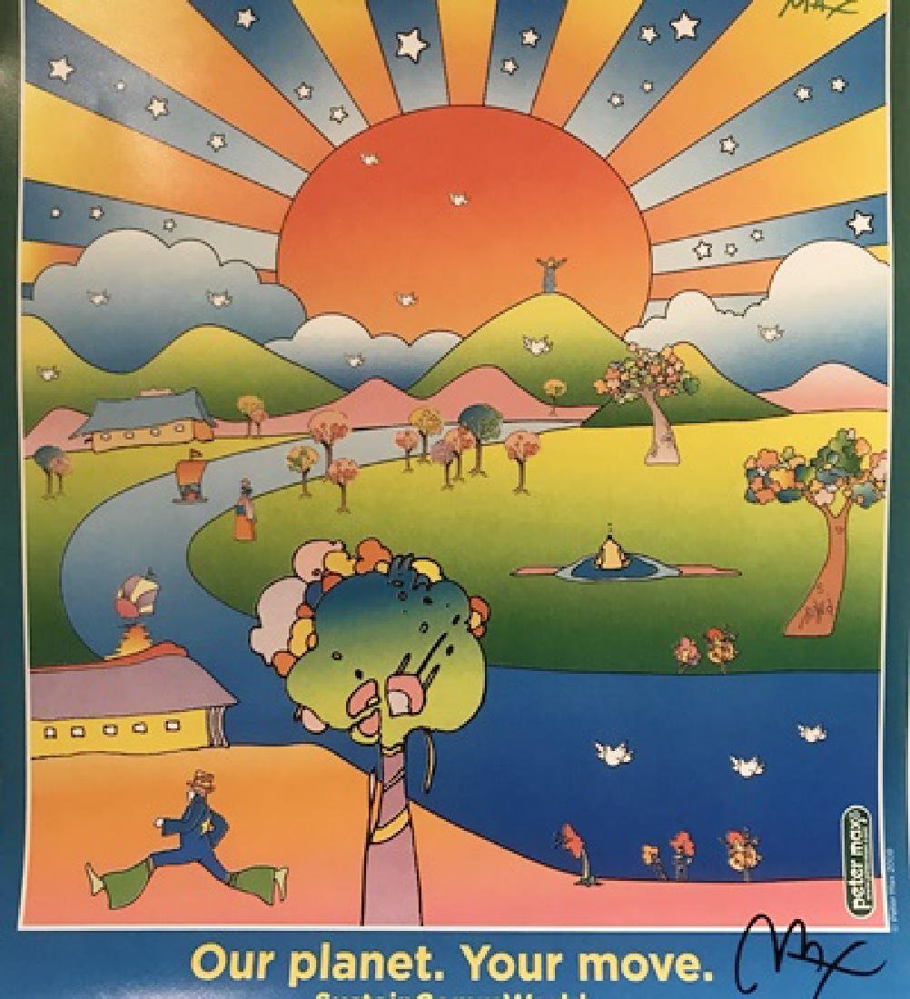 Peter Max Signed Lithograph - Our Planet – Your Move
