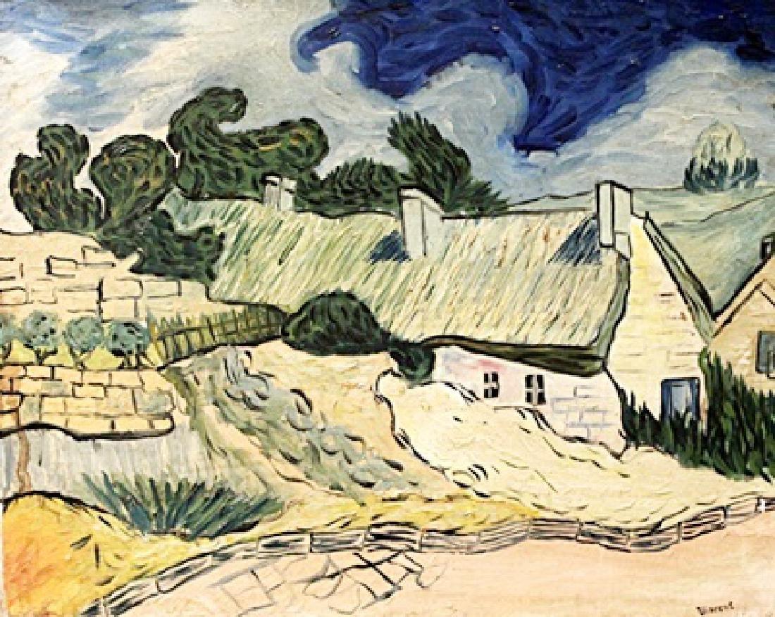 Vincent Van Gogh - Farm Near Auvers - Oil On Canvas
