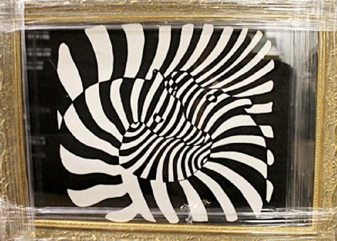 Victor Vasarely - Oil on paper