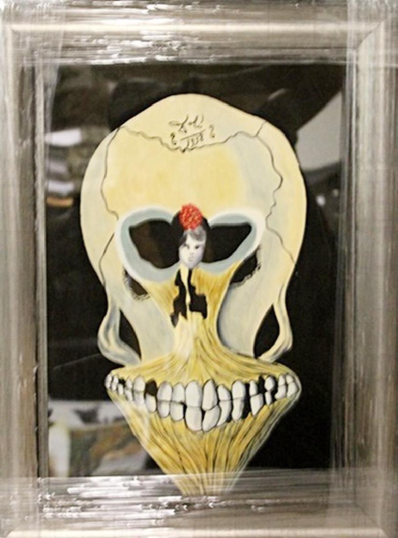Salvador Dali - Skull - Oil on paper