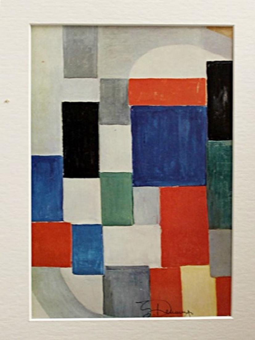 Sonia Delaunay Signed Lithograph 130