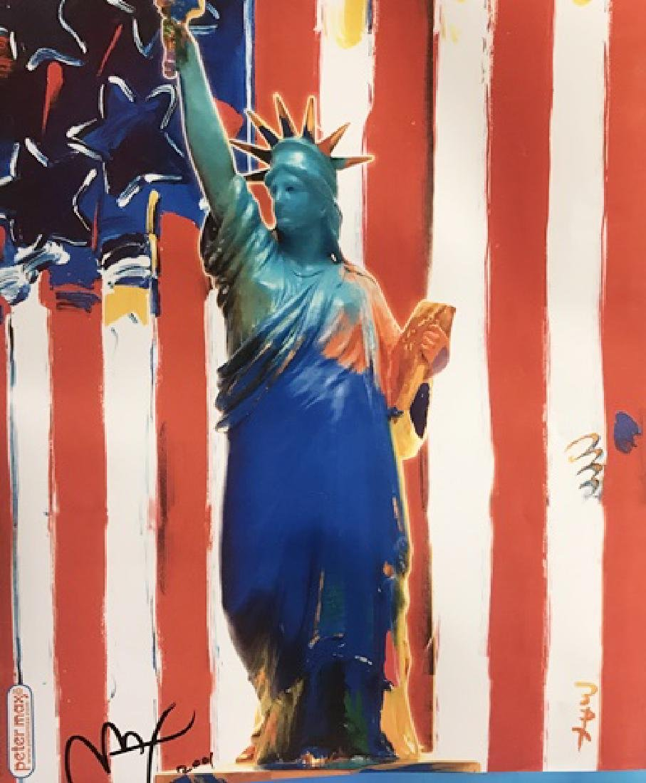 Peter Max Signed Lithograph - United We Stand