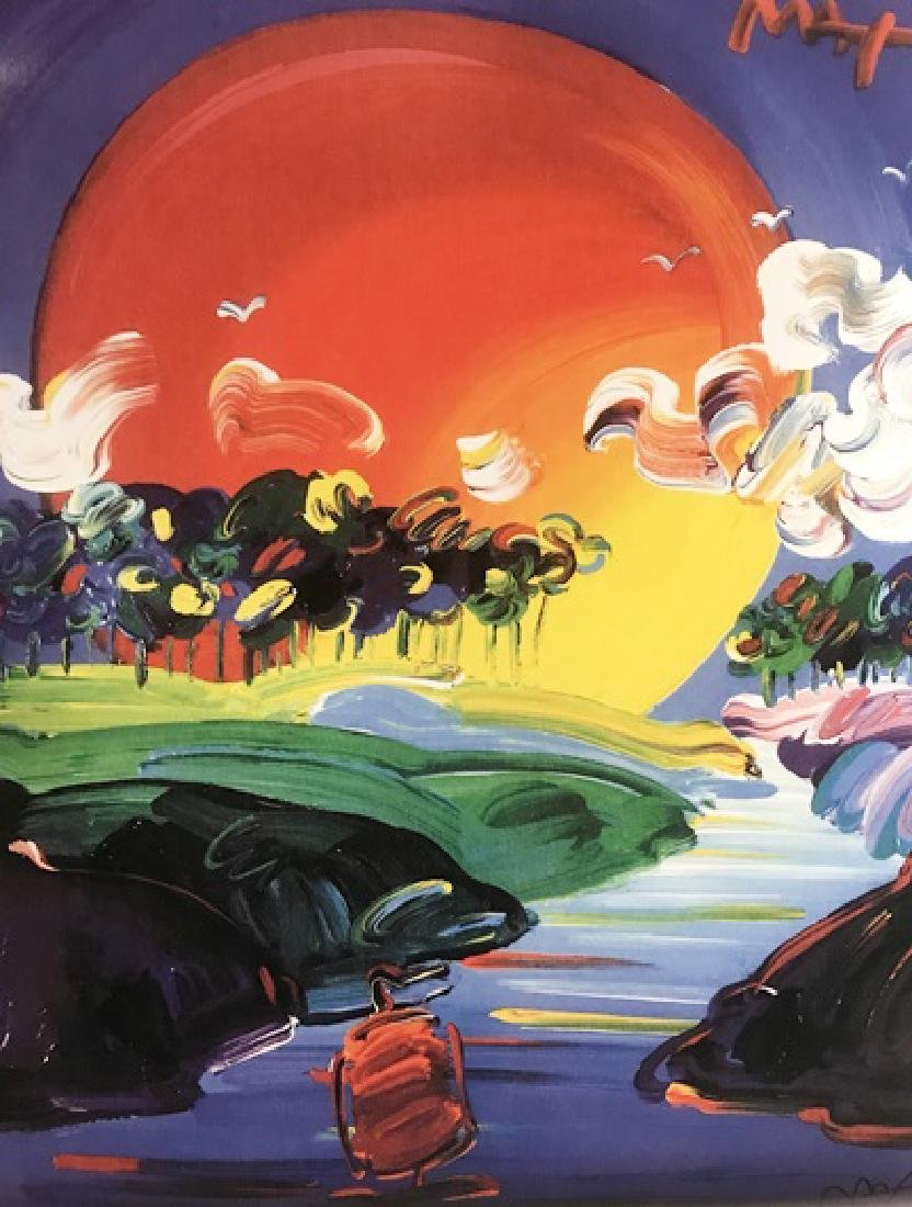 Peter Max Signed Lithograph - Without Borders