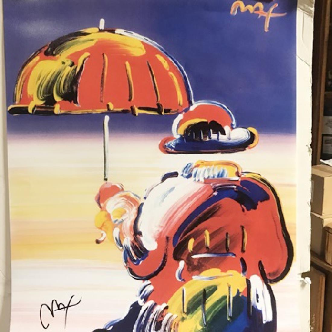 Peter Max Signed Lithograph - Umbrella Man