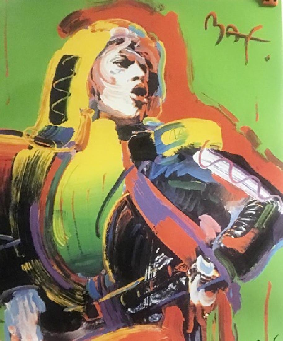 Peter Max Signed Lithograph - MICK JAGGER