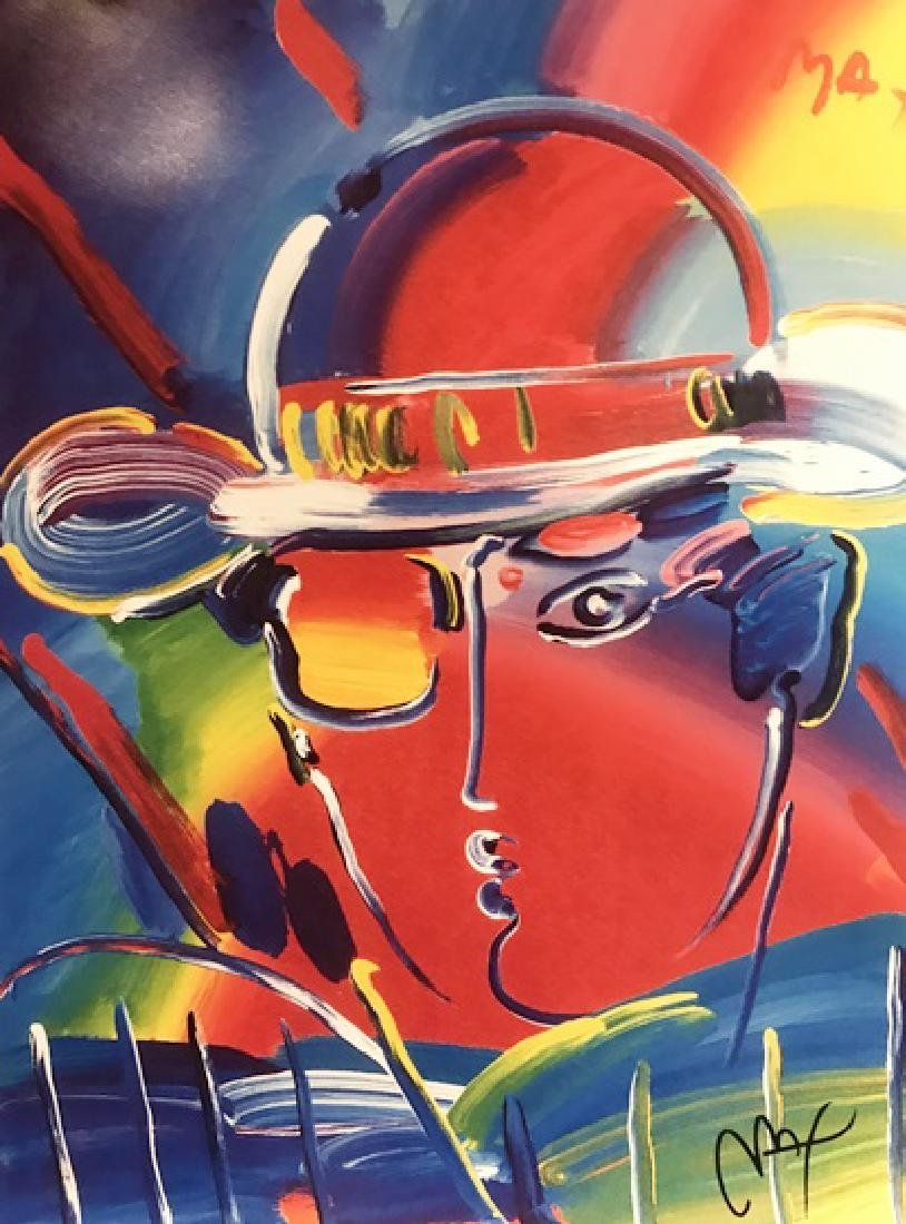 Peter Max Signed Lithograph - Zero