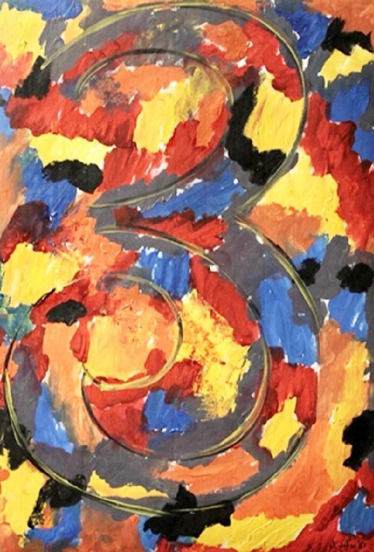 3 - Jasper Johns - Oil On Paper