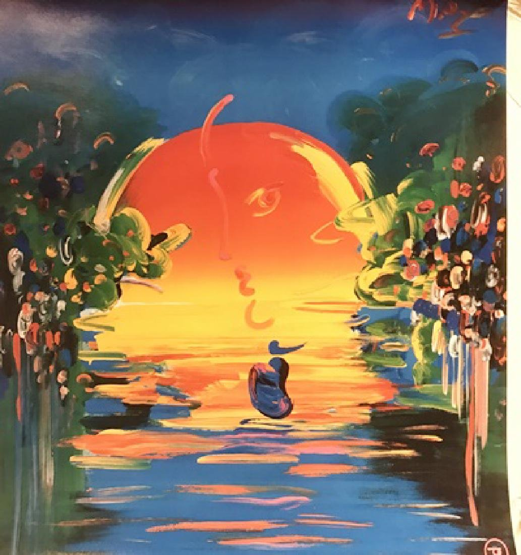 Peter Max Signed Lithograph - Better World 2000