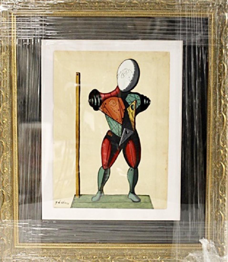 Giorgio De Chirico - The Gladiator - Oil on paper