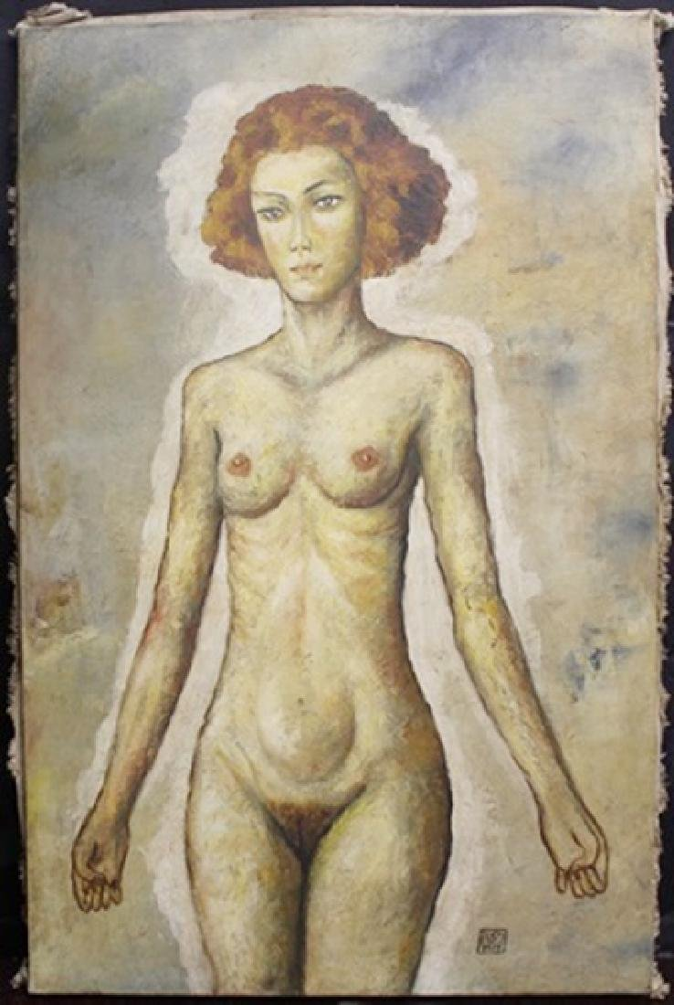 Mixed/Mixed Media Oil on Canvas By Egon Schiele
