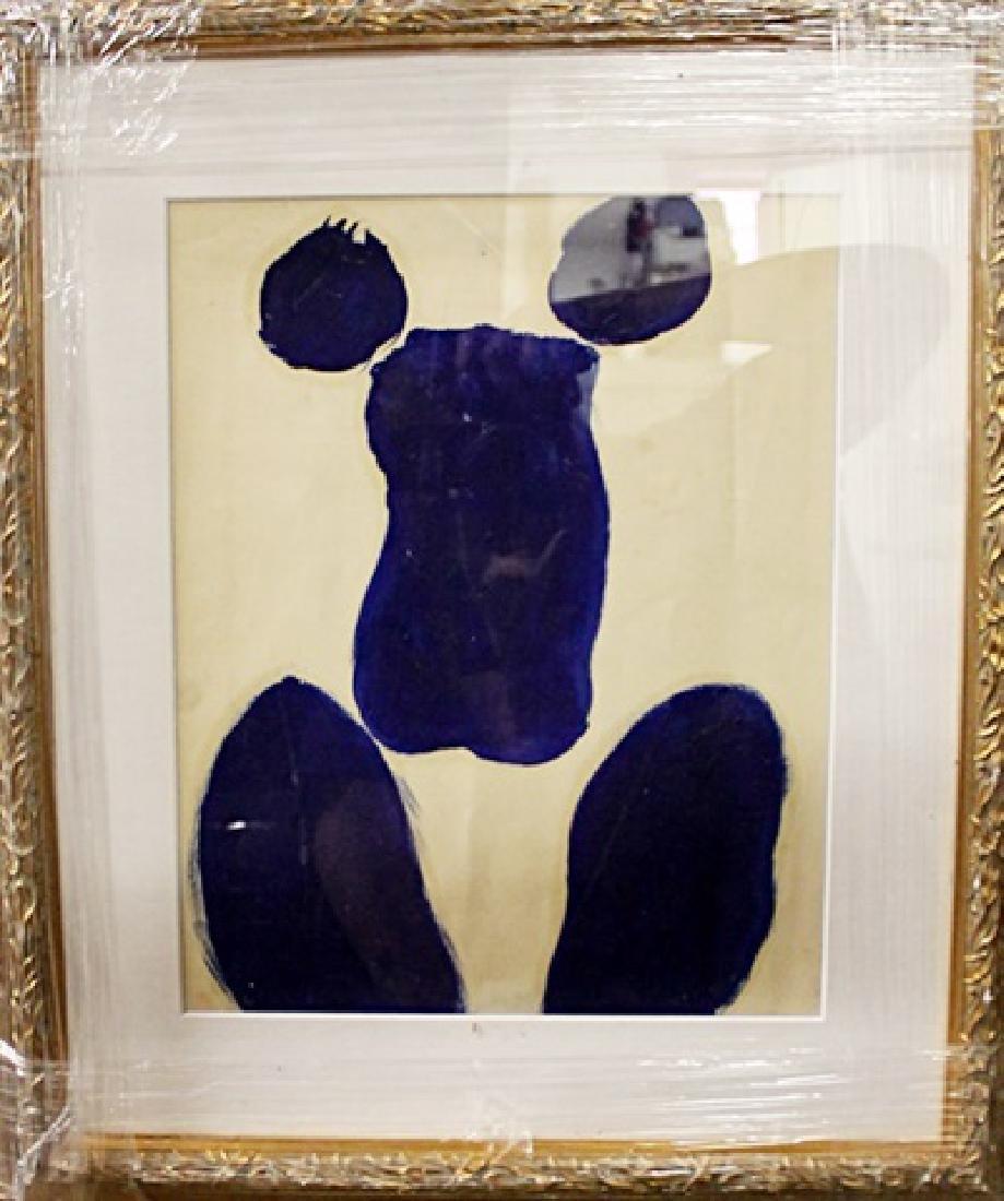 Yves Klein - Woman- Oil on paper