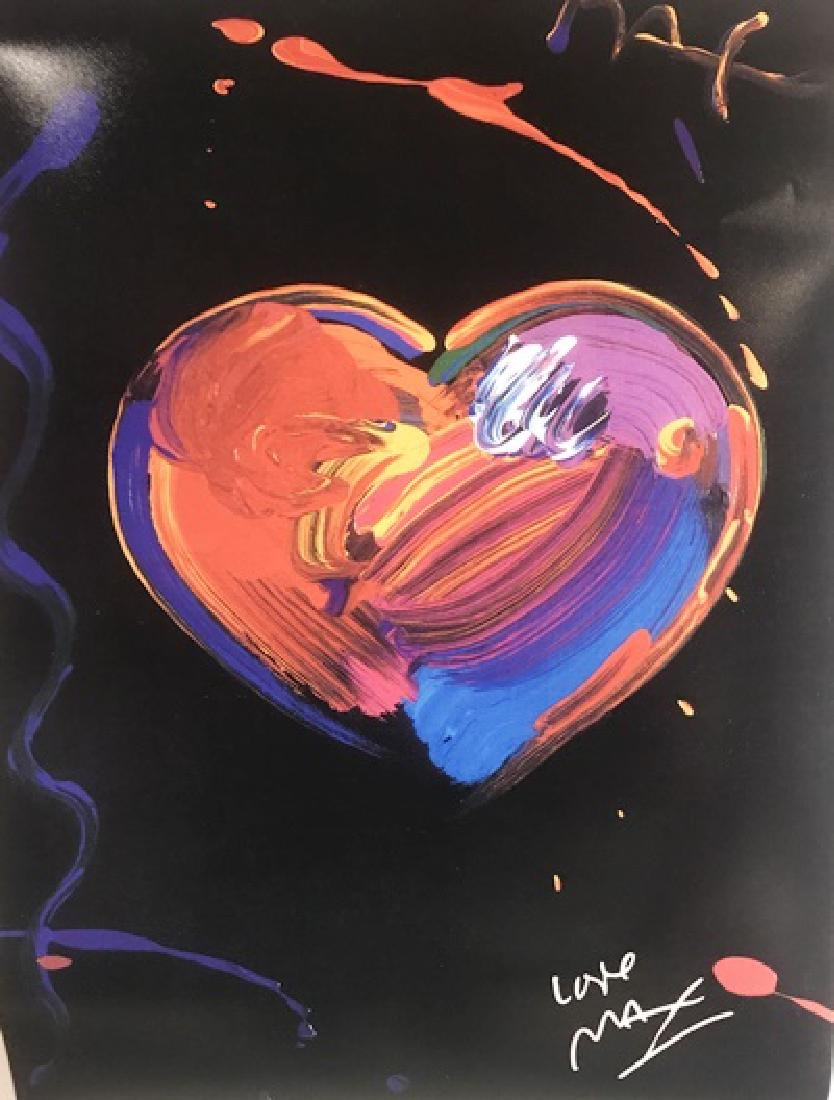 Peter Max Signed Lithograph - Heart