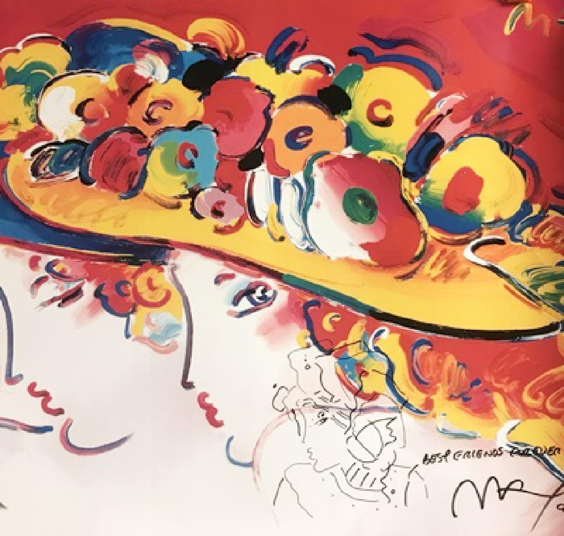 Peter Max Signed Lithograph - Friends Century Ladies