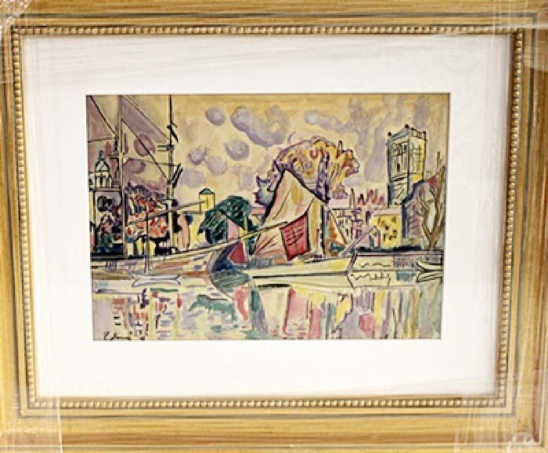 Paul Signac - La Rochelle - Watercolor on paper