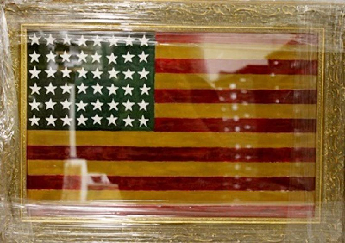Jasper Johns - Flag - Oil on paper