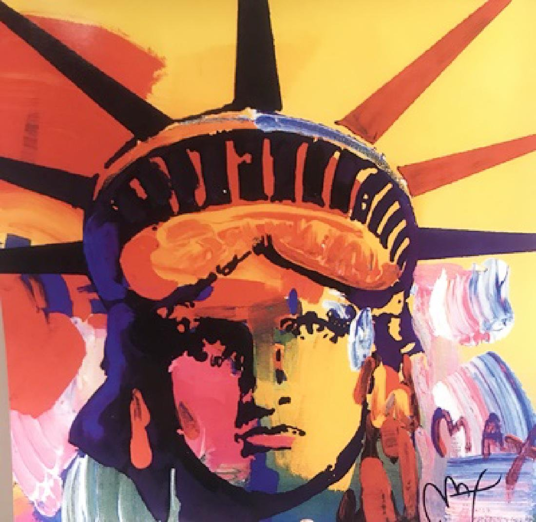 Peter Max Signed Lithograph - Liberty Head
