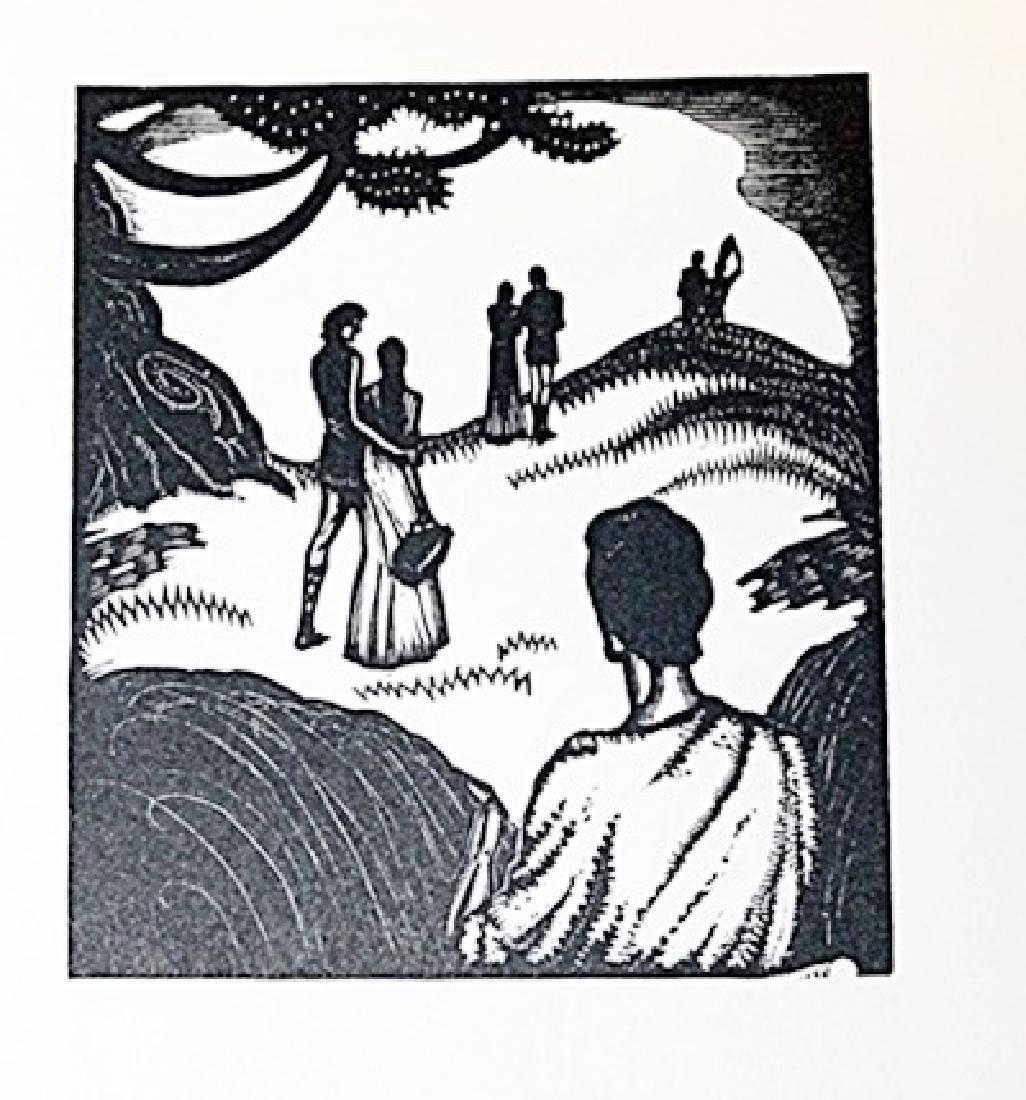 Authentic James Reid Wood Cut