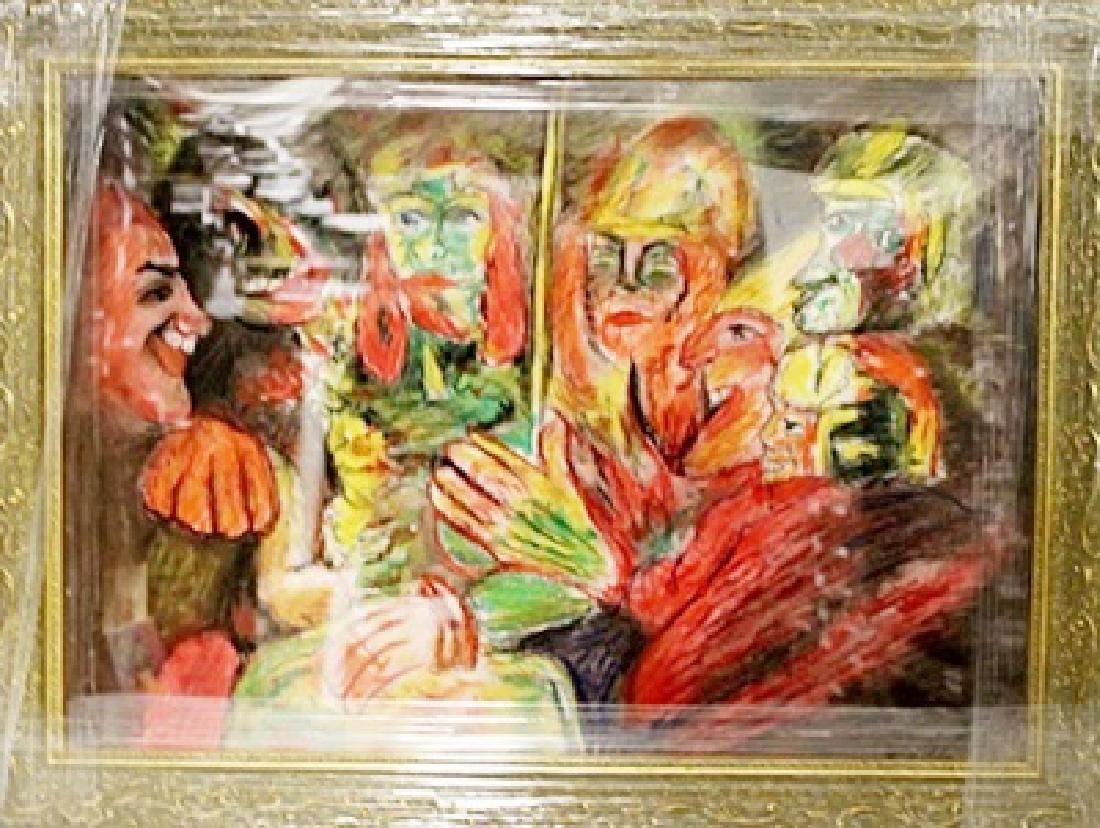 Emil Nolde - The Party - Pastel on paper