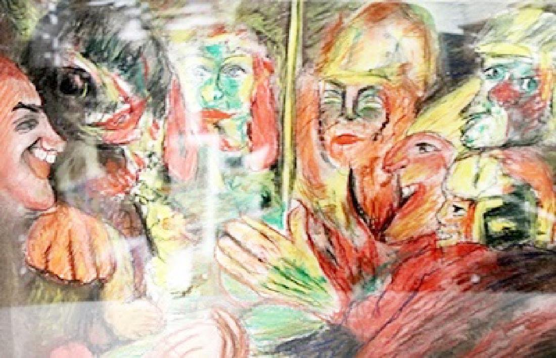 Emil Nolde - The Party - Pastel on paper - 2