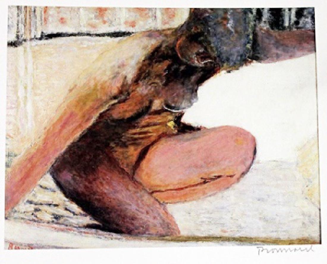 Bonnard - Crouching Nude - Lithograph