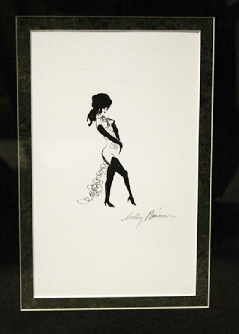 Leroy Neiman Femlin Ink Drawing