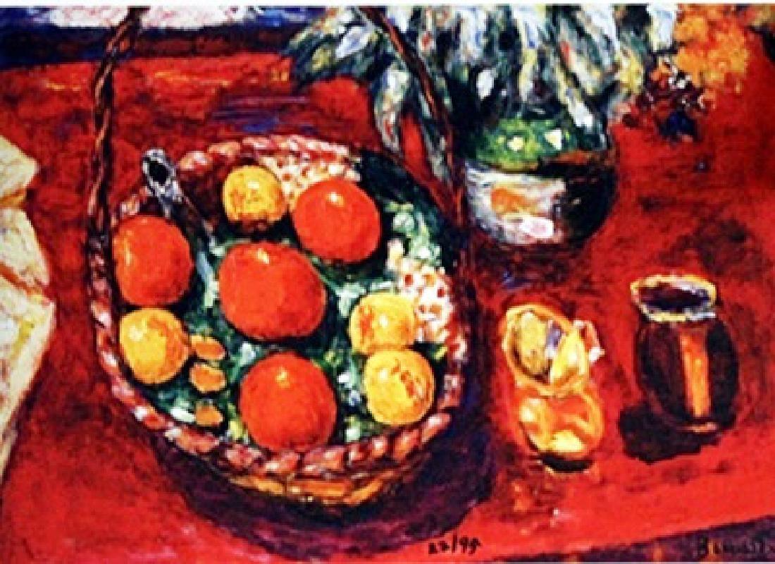 Bonnard - Basket Of Fruit - Lithograph